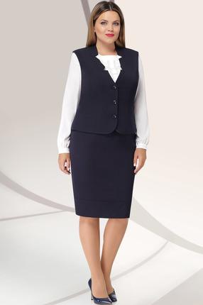 Комплект юбочный LeNata 31922 синий с белым