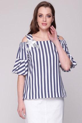 женская блузка ladis line, синяя