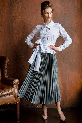 Комплект юбочный Vesnaletto 2107 серый с белым