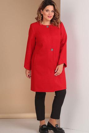Пальто Ришелье 635.2 красный