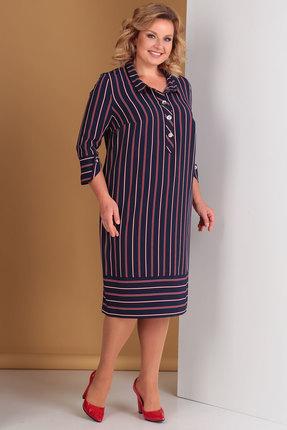 женское повседневные платье новелла шарм, синее
