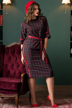 Комплект юбочный Галеан Cтиль 706 синий с красным