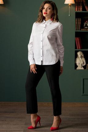 Комплект брючный Галеан Cтиль 709 белый с черным