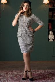 Платье Галеан Cтиль 711 серые тона