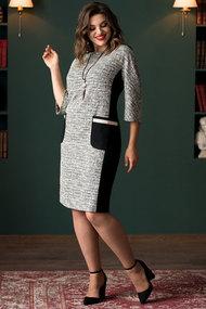 Платье Галеан Cтиль 712 серый с черным