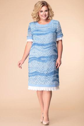 Платье Romanovich style 1-1488 голубые тона