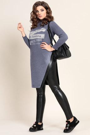 Комплект брючный Мублиз 318 синий с черным