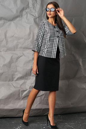 Комплект юбочный Миа Мода 996-1 серый с черным