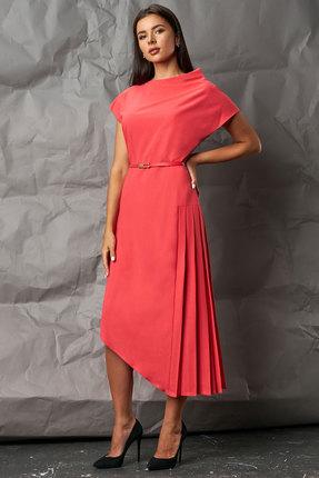 Платье Миа Мода 1053 кораллово-красный