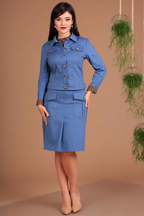 Комплект юбочный Мода-Юрс 2427 голубой