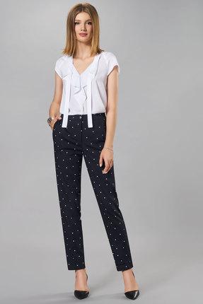 Комплект брючный Denissa Fashion 1247 сине-белый