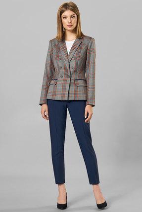 Комплект брючный Denissa Fashion 1257 серо-синий