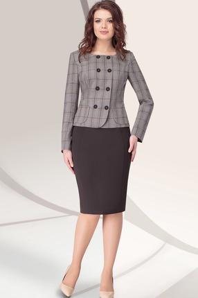 Комплект юбочный LeNata 21915 коричневый