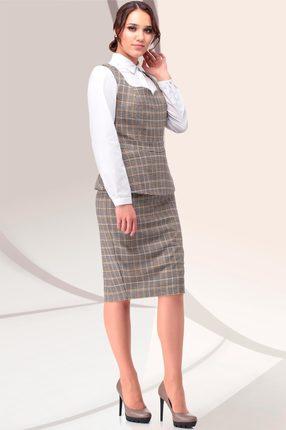 Комплект юбочный LeNata 31038 коричневый