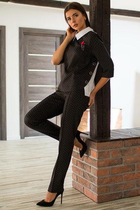 Комплект брючный Миа Мода 1059-1 темные тона