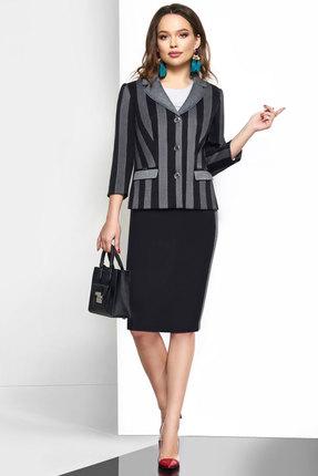 Комплект юбочный Lissana 3583 черный с серым
