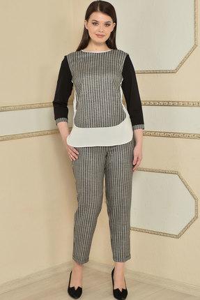 Комплект брючный Lady Style Classic 1741 серый с черным