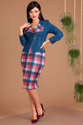Комплект юбочный Мода-Юрс 2091 синий+красный