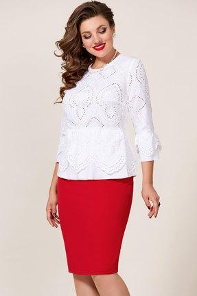 Комплект юбочный Vittoria Queen 9433 белый с красным