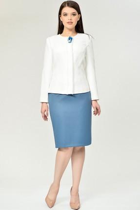 Комплект юбочный Магия Моды 1534 голубой+молочный
