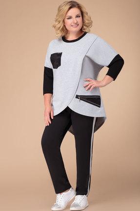 Комплект брючный Svetlana Style 1261 черный с серым