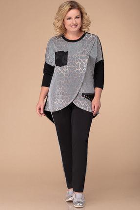 Комплект брючный Svetlana Style 1262 черный с серым