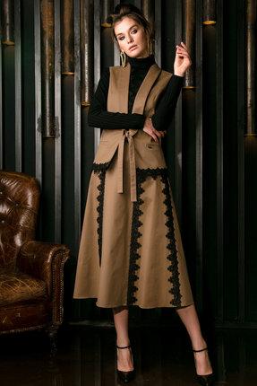 Комплект юбочный Vesnaletto 2157 бежевый с черным