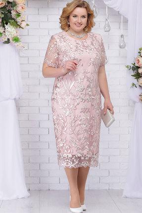 Платье Ninele 7231 пудровый