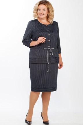 Комплект юбочный Теллура-Л 1450 тёмно-синий