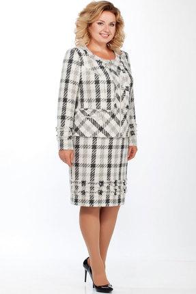 Комплект юбочный Теллура-Л 1454 бело-чёрный