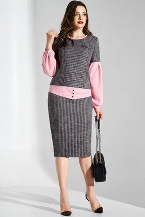 Комплект юбочный Lissana 3607 серый с розовым