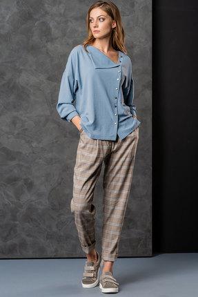 Комплект брючный Deesses 2002/1 голубой с серым
