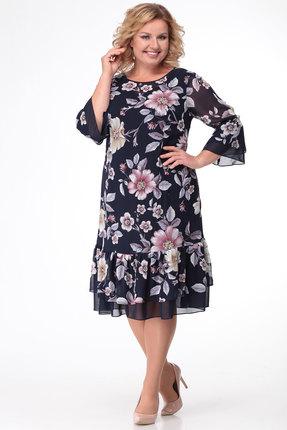 Платье KetisBel 1474н синий с розовым