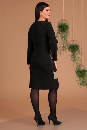 Фото 2 - Платье Мода-Юрс 2457 черный+бежевый цвет черный+бежевый