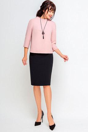 Комплект юбочный SWALLOW 189  розовый с черным