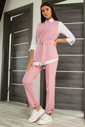Комплект брючный Миа Мода 956-6 розовый