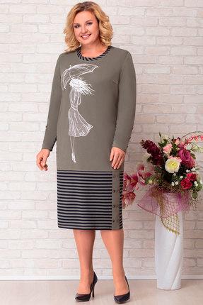 Платье Aira Style 697 серый с черным