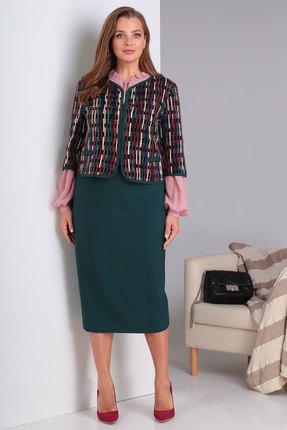 Комплект юбочный Viola Style 3447 зеленые тона