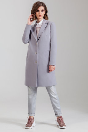 Пальто Anna Majewska 1264/2 серо-сиреневый