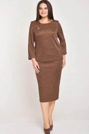 Комплект юбочный Elga 22-518 шоколад