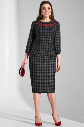 Комплект юбочный Lissana 3725 черно-серые тона