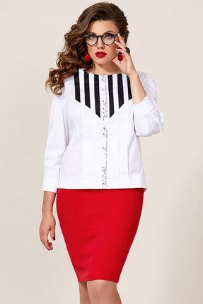 Комплект юбочный Vittoria Queen 9543/1 красный с белым