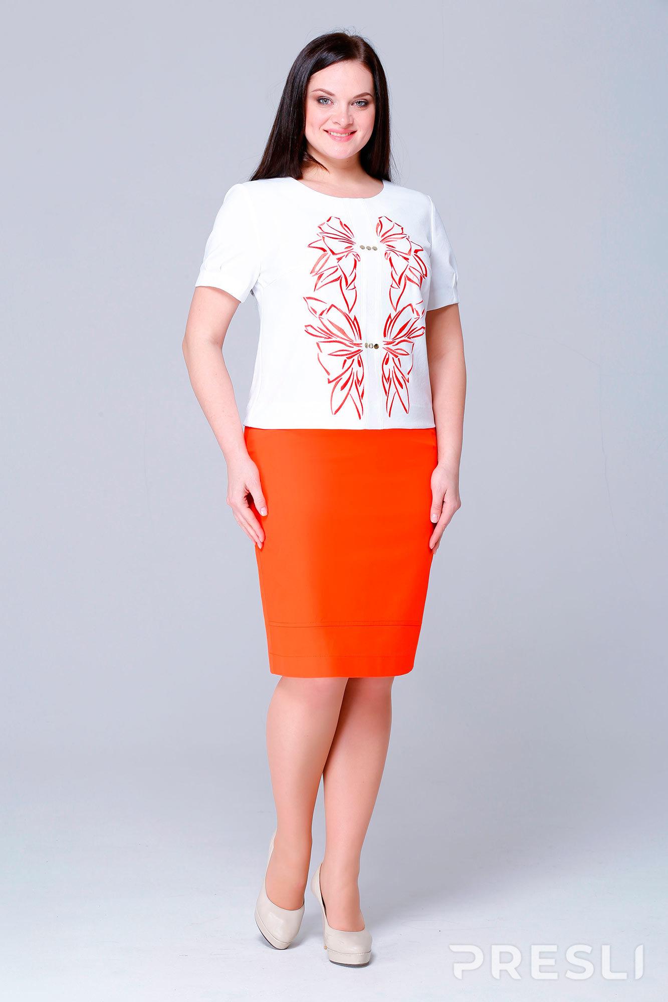 Комплект юбочный Runella 1072 оранжевый