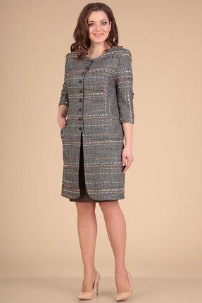 Комплект юбочный Viola Style 2605 серый с коричневым