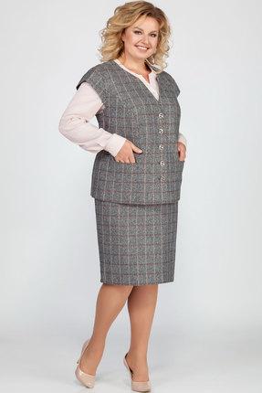 Комплект юбочный LaKona 1149/2 серый с пудровым