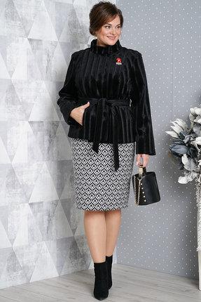 Комплект юбочный Alani 981 черно-белый
