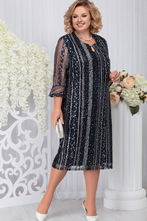 Платье Ninele 2215 тёмно-синий