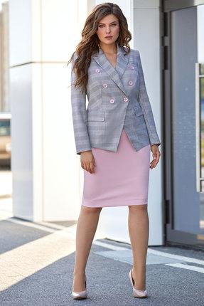 Комплект юбочный Мублиз 362 серый с розовым