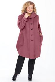 Пальто Pretty 485 бордовые тона