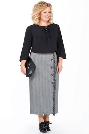 Комплект юбочный Pretty 937 серые с черным